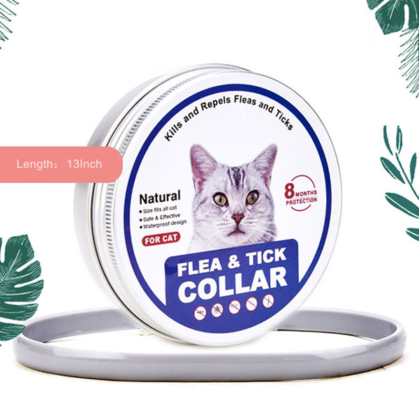Flea and Tick Collar for Cats and Kittens Natural Prevention Treatment 8 Months Protection