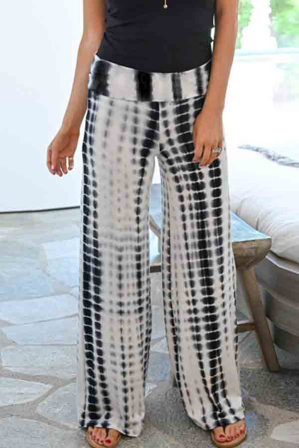 Regular Waist Tie Dye Baggy Casual Wear Pants