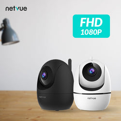 Netvue 1080P Indoor Security Camera-Orb Mini (Black + White)