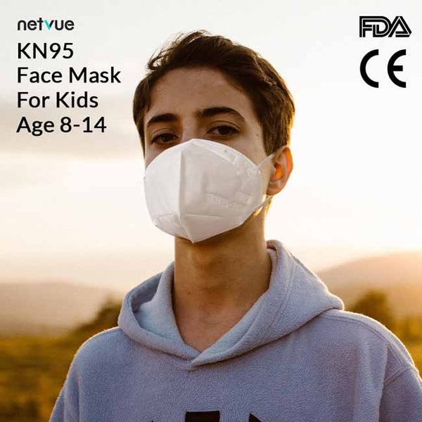 Disposable KN95 Protective Face Masks for Kids( age 8-14 ) Free Duty & Shipping