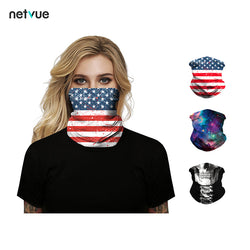 US Flag Pattern Face Bandana Face Mask Balaclava Face Scarf 1 Pack for Halloween For Gifts