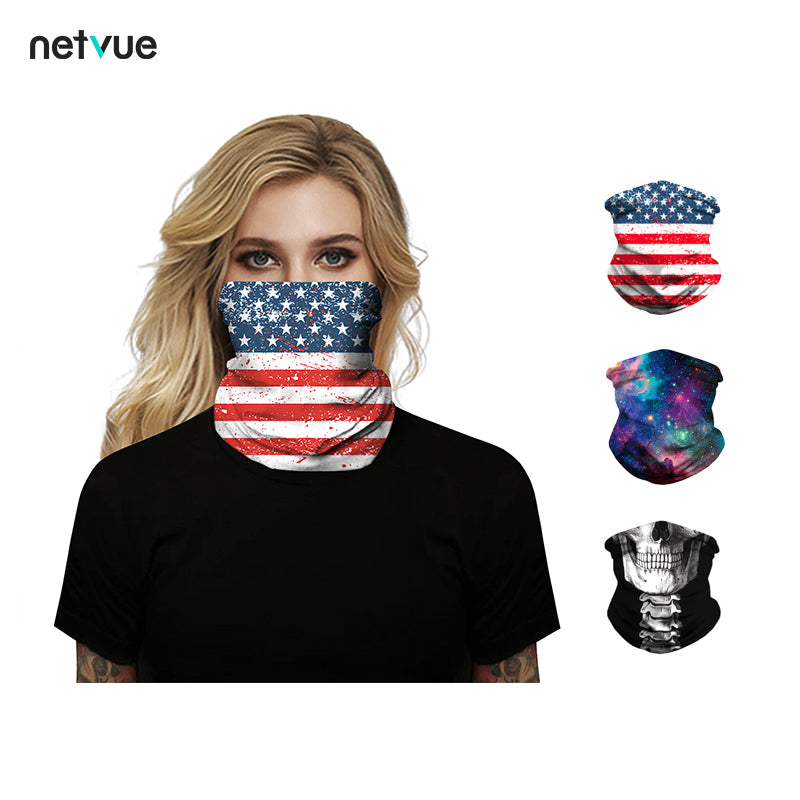 US Flag Pattern Face Bandana Face Mask Balaclava Face Scarf 1 Pack