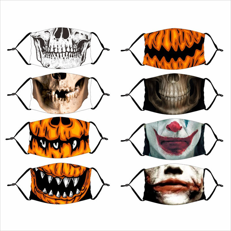 Halloween Dustproof PM2.5 Mouth Mask with 1 Replaceable Filter-1/2/3 pcs