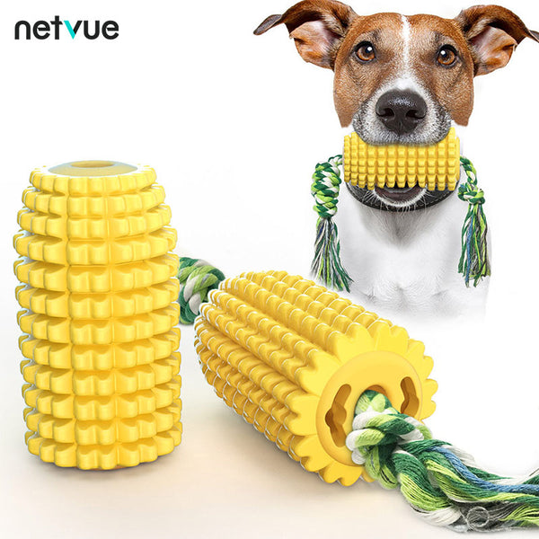 Corn Dog Chew Toys Puppy Toothbrush Toys Teething Cleaning