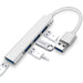 Mini 4-in-1 Aluminum Alloy USB Hub for Notebook PC Mobile HDD USB Flash Drive and More - netvue