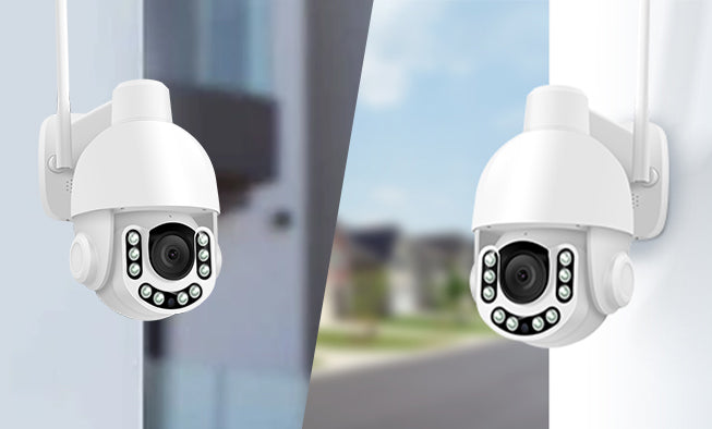 2pcs Sentry Pro Outdoor PTZ Cams