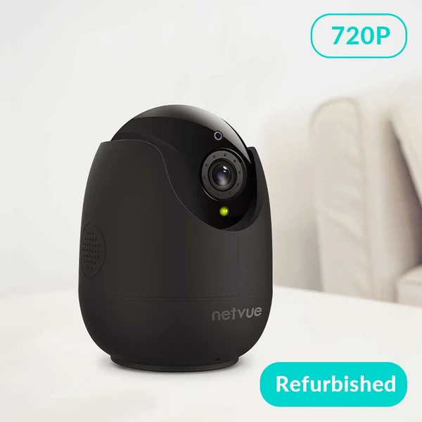 Refurbished Netvue 720P Indoor Security Camera- Orb Cam Black