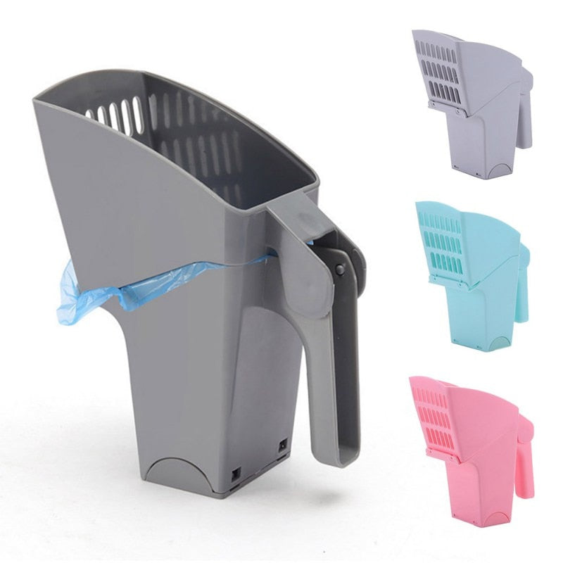 Litter Scooper With Waste Bags - Barksworld.com