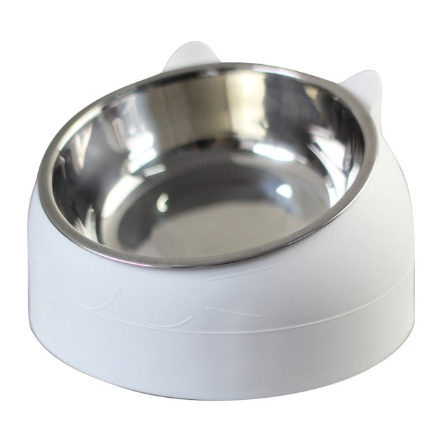 Dog Bowl 15 Degrees Tilted Stainless Steel - Barksworld.com