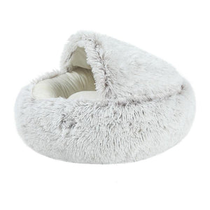 Hot Plush Round Bed - Barksworld.com
