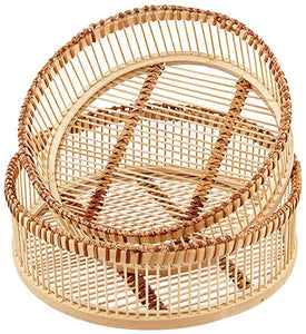 Liv Interiors Set Of Two Bamboo Trays