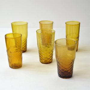 Chickidee Set of 6 Amber Water Glasses