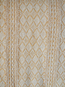 Liv Interior Natural/ Amber Diamond Print Throw