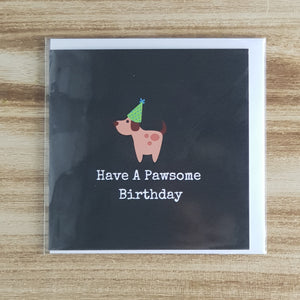 Punderful Birthday Card - Paw