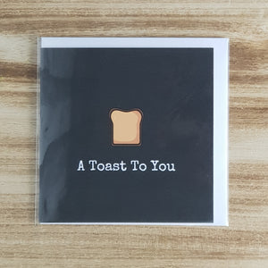 Punderful Congratulations Card - Toast