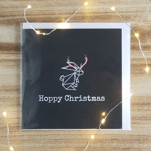 Hoppy Christmas Card - Reindeer