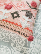 Load image into Gallery viewer, Pink Boho Pom Pom Cushion