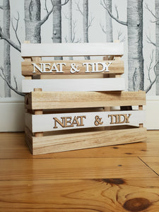 Set of two 'Neat & Tidy' Wooden Storage Crates