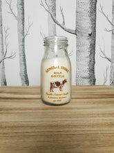 Load image into Gallery viewer, Glass Milk Bottle Vanilla Candle