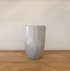 Liv Interiors Tall Grey Cubic Mug