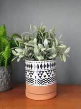 Load image into Gallery viewer, Sass & Belle Scandi Boho Tribal Geo Planter With Saucer