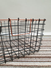Load image into Gallery viewer, Set of 3 wire black and copper baskets