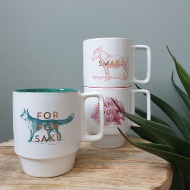 Designworks Ink Individual Mugs In Three Quirky Sayings