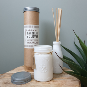 Paddy Wax Dandelion & Clover Candle & Diffuser Gift Set