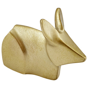 Liv Interior Recycled Brass Origami Rabbit