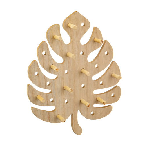 Sass & Belle CHEESE PLANT LEAF PEG BOARD
