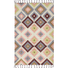 Load image into Gallery viewer, Liv Interior Cotton Metallic & Multicoloured Rug, 140x200cm