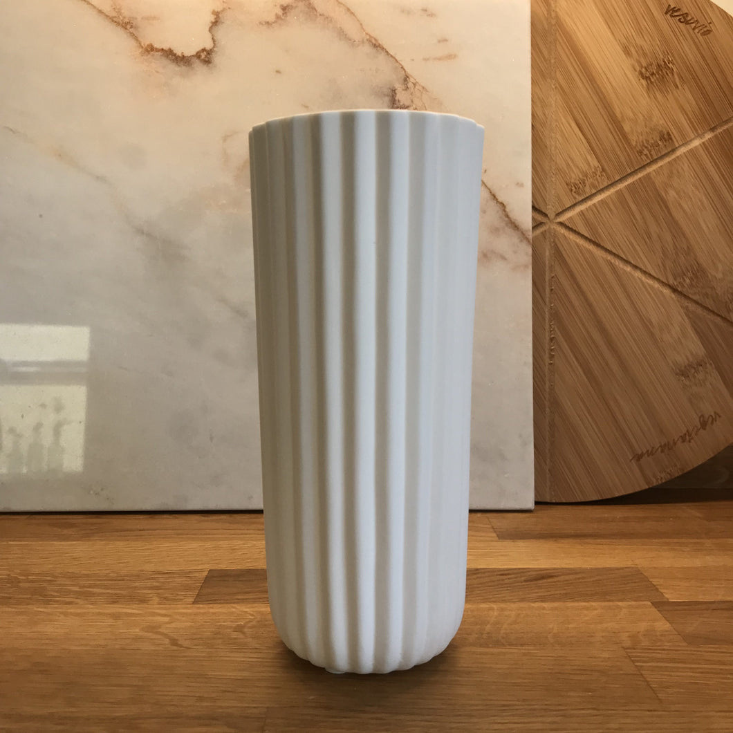Liv Interiors White Ceramic Vase