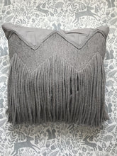 Load image into Gallery viewer, Liv Interior Sand Grey Fringe Cushion