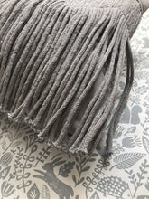 Load image into Gallery viewer, Liv Interior Sand Grey Fringe Cushion Cover