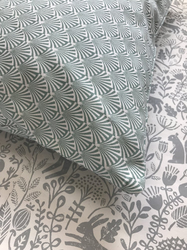 Green Printed Cushion