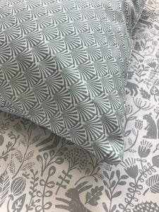 Liv Interior Green Printed Cushion