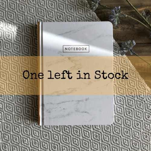 Medium Marble Journals - White