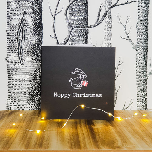 Hoppy Christmas Bunny Rabbit Greetings Card - GiftHoppy Christmas Bunny Rabbit Greetings Card - Gift