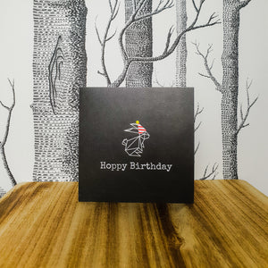 Hoppy Birthday Bunny Rabbit Greetings Card