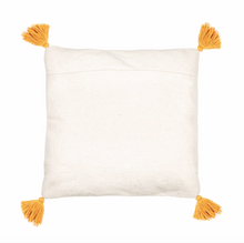 Load image into Gallery viewer, Sass & Belle Scandi Boho Mustard Tassels Cotton Cushion