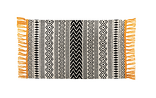Load image into Gallery viewer, Sass & Belle Scandi Boho Yellow Tassel Cotton Rug