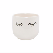 Load image into Gallery viewer, Sass & Belle Small Eyes Shut Planter