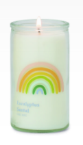 Load image into Gallery viewer, Eucalyptus Santal rainbow candle