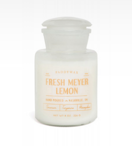 Apothecary Farmhouse 8oz Glass Candle - Fresh Meyer Lemon