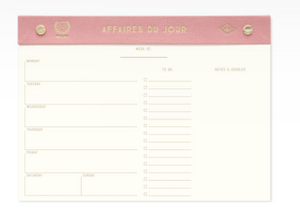 Weekly Desktop Planner: Pink or Black