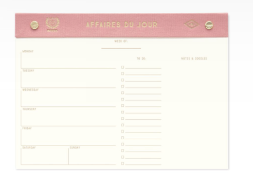 Designworks Ink Weekly Desktop Planner: Pink or Black