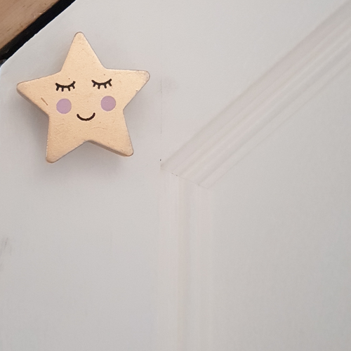 Sass & Belle Sweet Dreams Smiling Star Drawer Knob