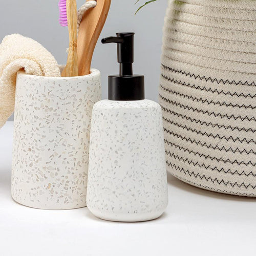 Chickidee White Terrazzo Soap Dispenser