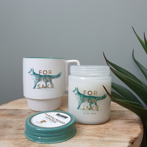 Designworks Ink 'For Fox Sake' Candle & Mug Gift Set