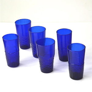 Chickidee Set of 6 Blue Water Glasses